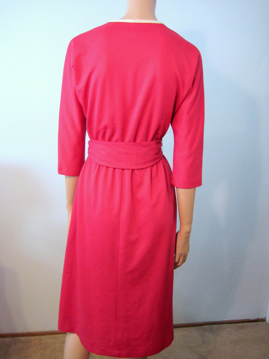 Vintage Raspberry Day Dress 1970's by Melissa Lane - product images  of