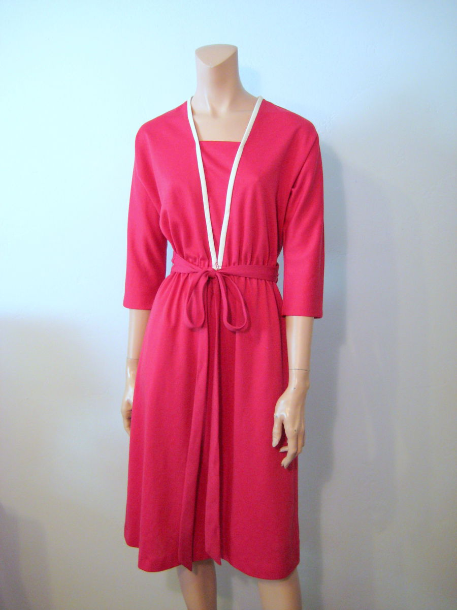 Vintage Raspberry Day Dress 1970's by Melissa Lane - product image