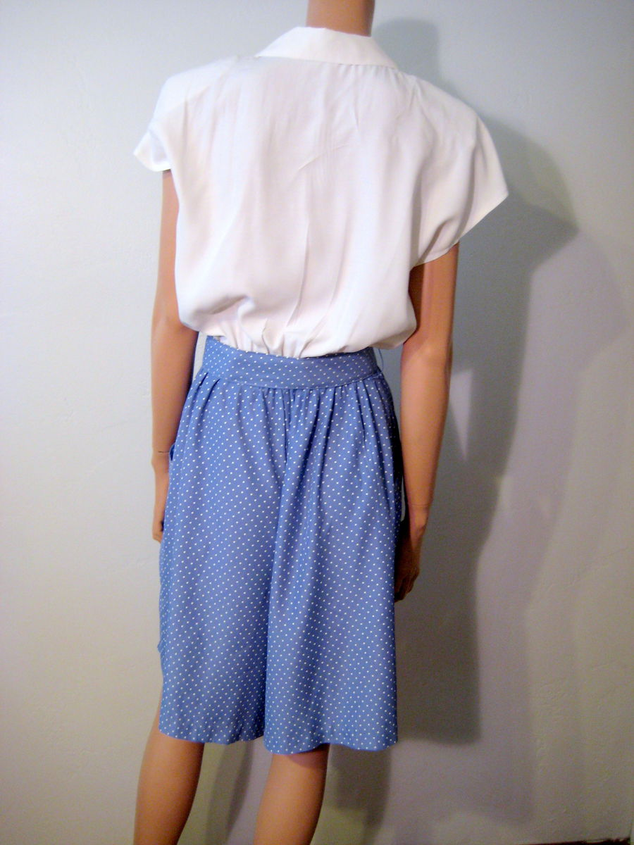 Vintage 1980's Romper/Jumpsuit Periwinkle Blue and White - product images  of