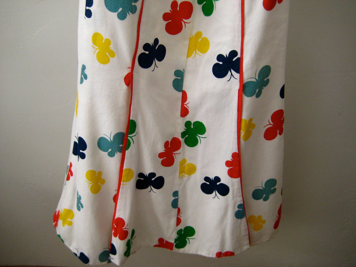 Butterfly Print Panel Skirt Cotton Pique  - product images  of