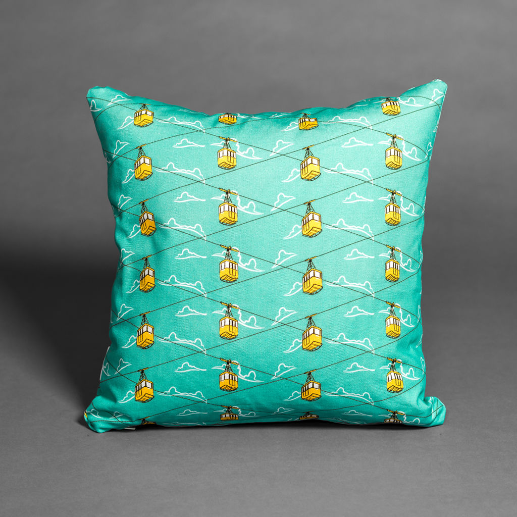 Cable Cars Blue Cushion - product images  of