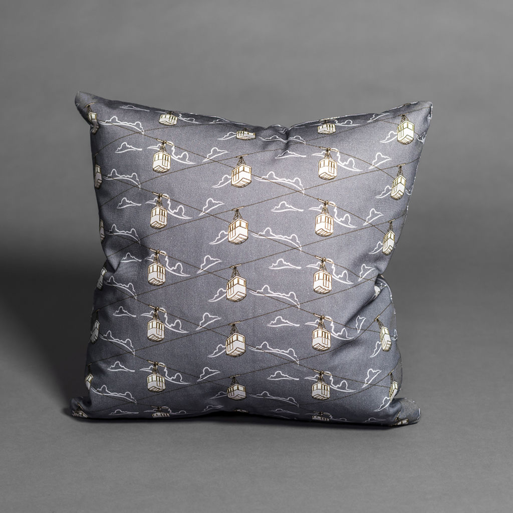 Cable Cars Grey Cushion - product images  of