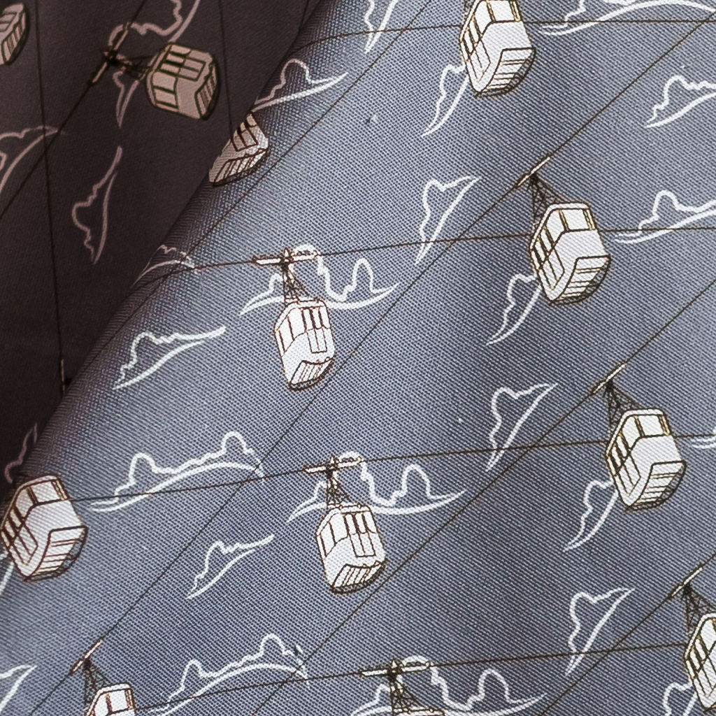 Cable Cars Grey Fabric - product images  of