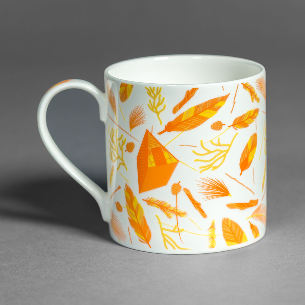 Nest Building Materials British Fine Bone China Mug - product images  of