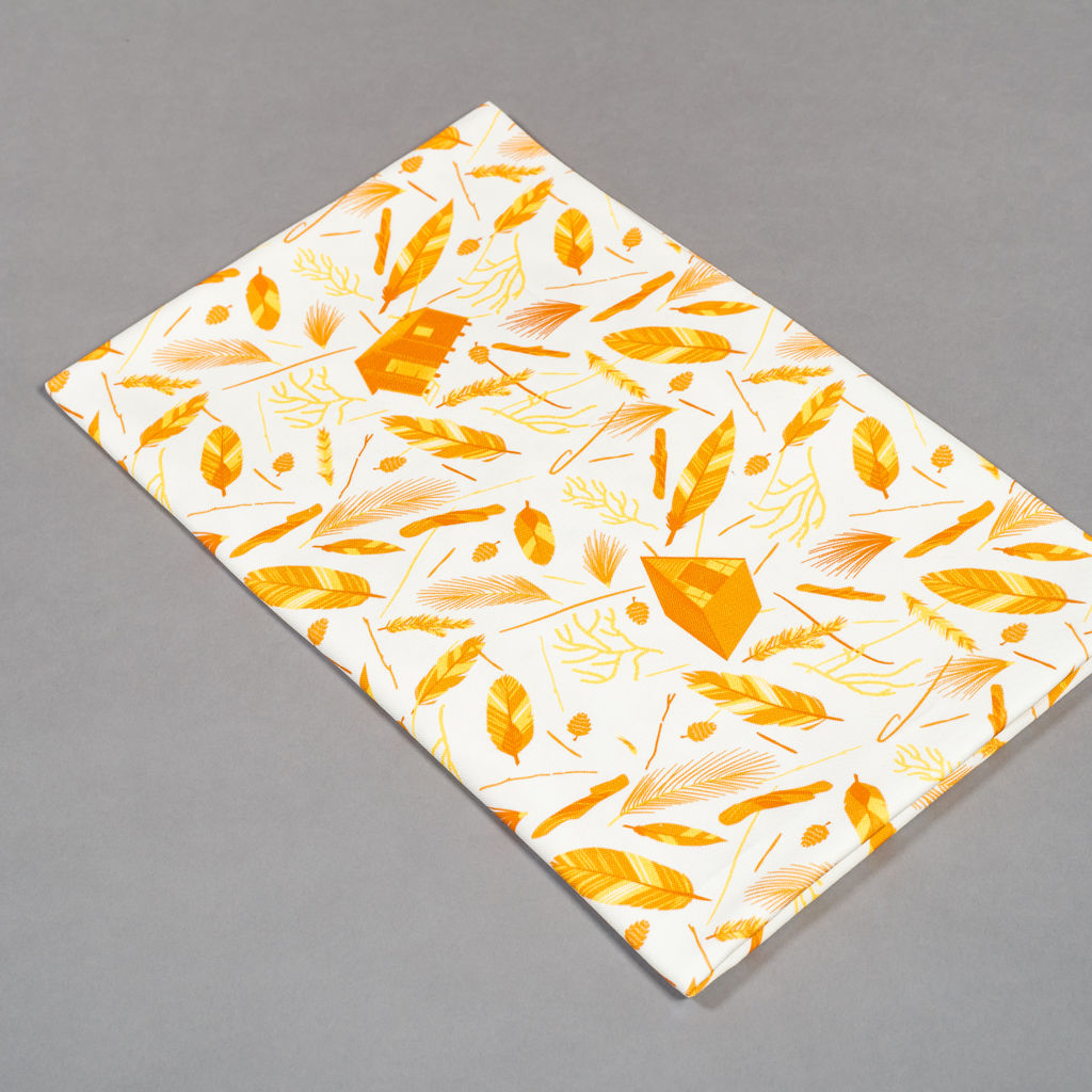 Nest Building Orange Black/White Fabric - product images  of