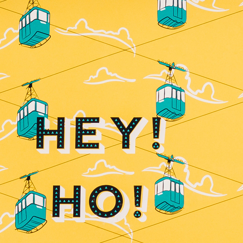 "'Hey! Ho! Let's Go!"" Cable Cars Art Print - product images  of"
