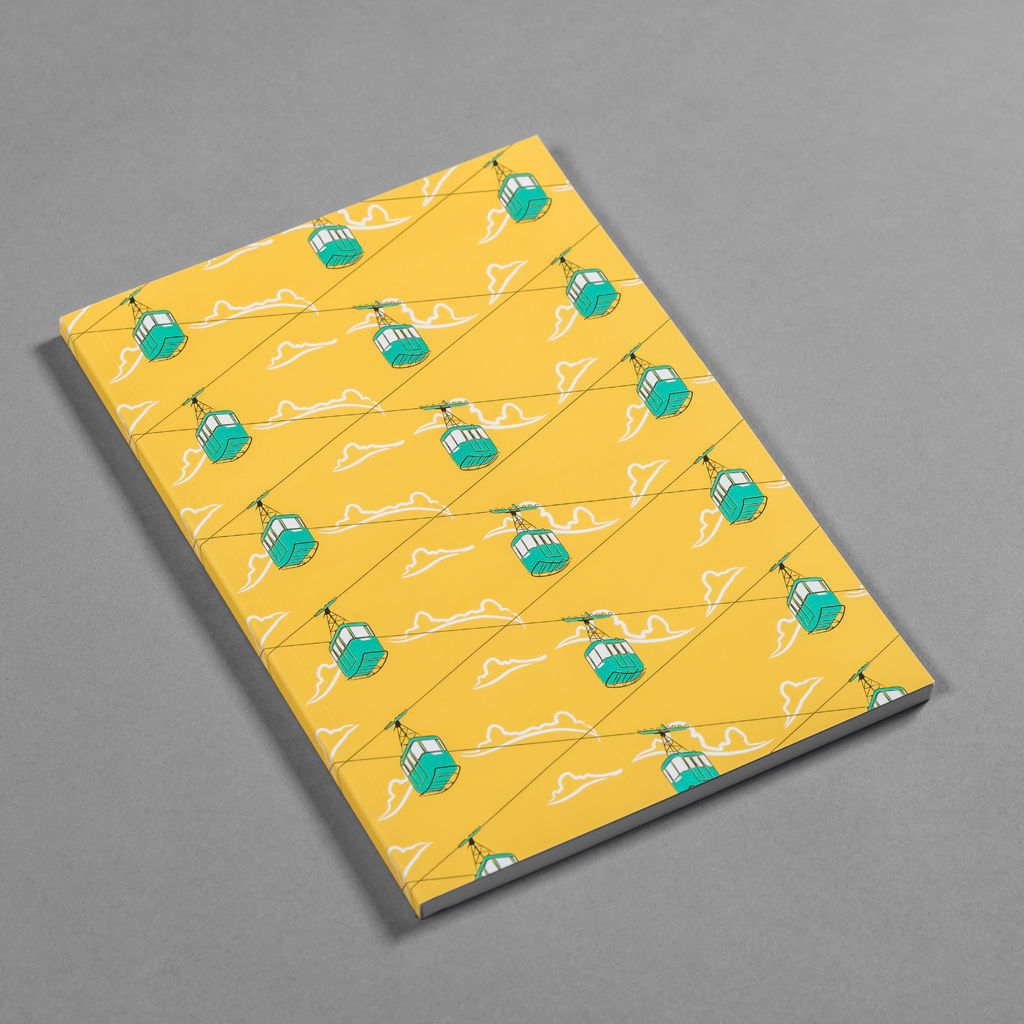 Cable Cars Yellow Notebook - product images  of