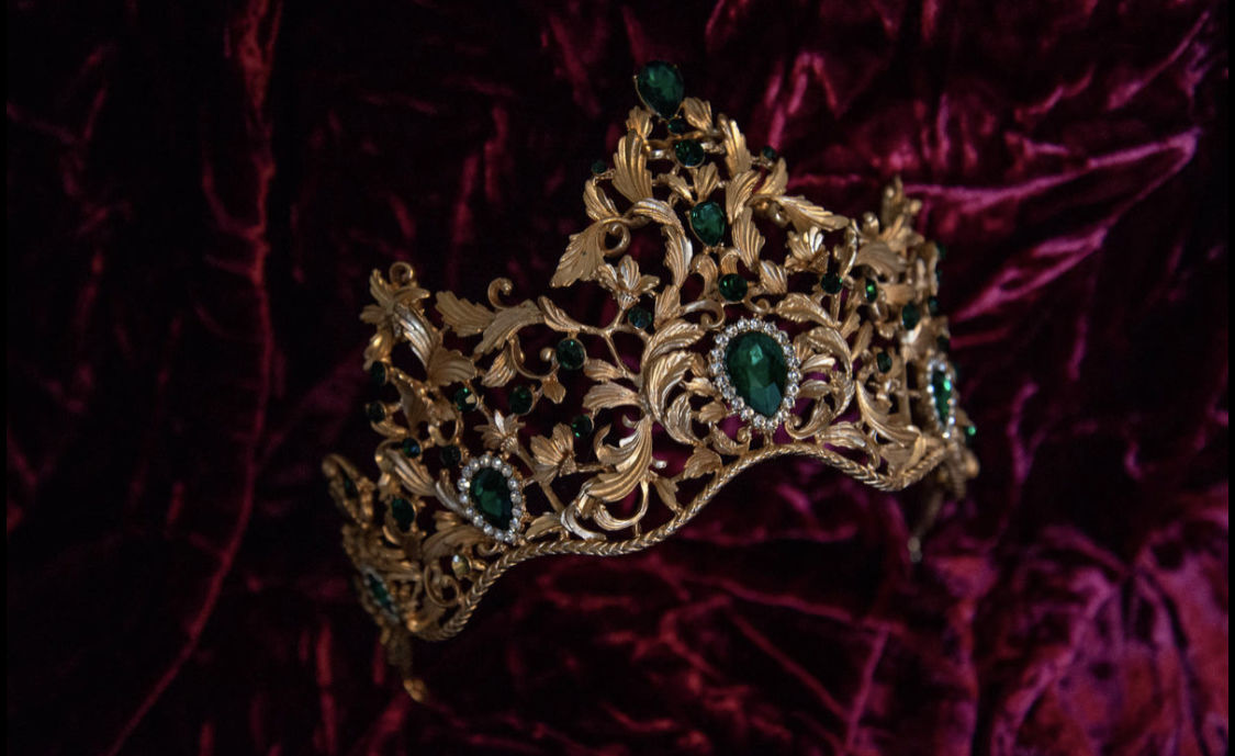 'Bernadette' Tiara and Earring Set - Vintage - product image