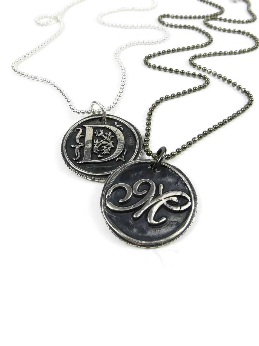 Custom Order Silver Wax Seal Pendant - product images  of