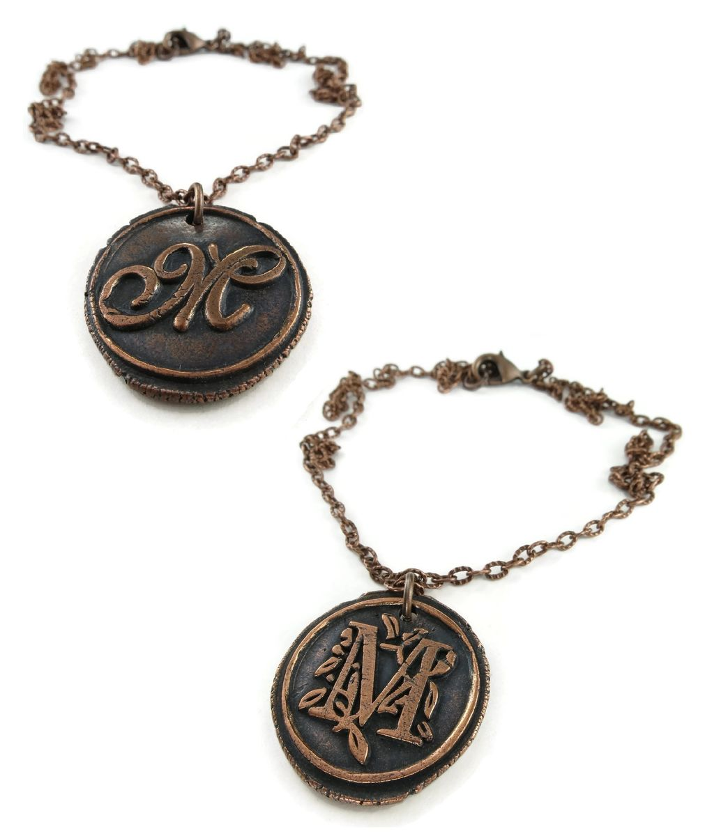 Custom order copper wax seal pendant ttereve custom order copper wax seal pendant product images of aloadofball Image collections