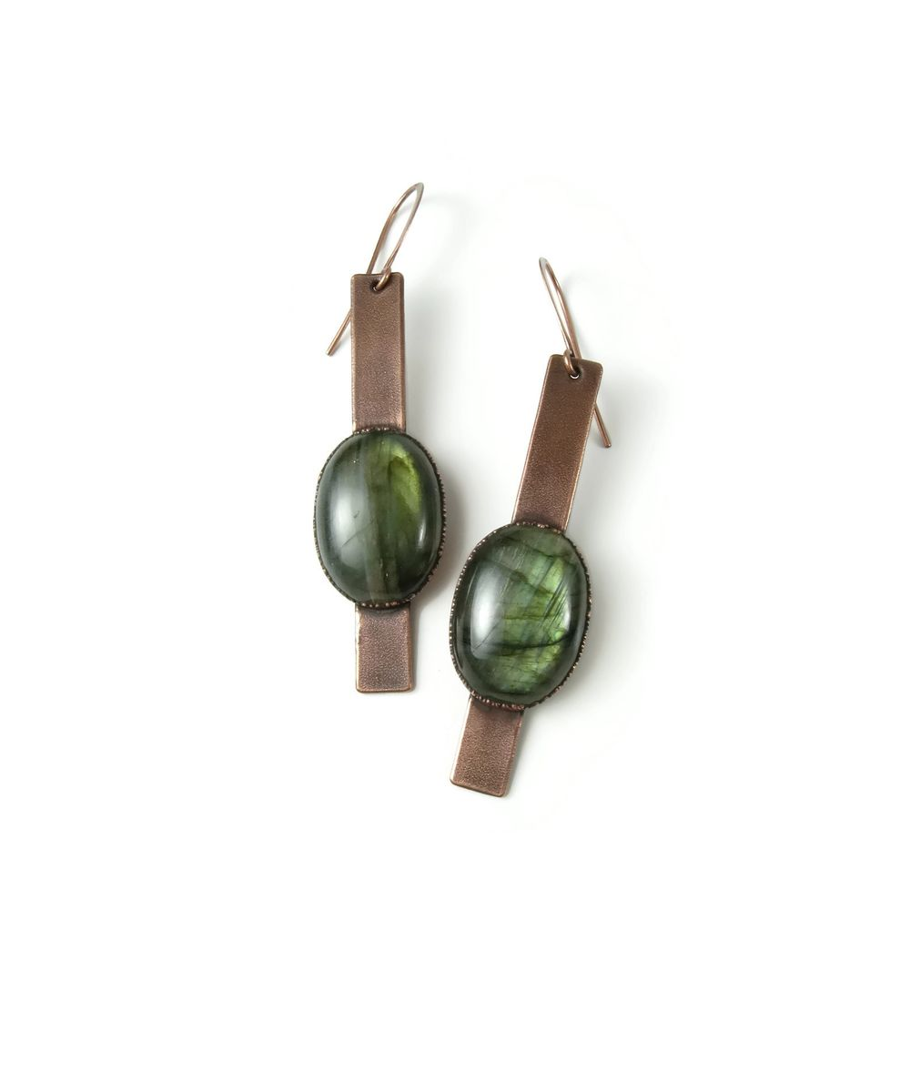 Labradorite Strap Earrings - product images  of