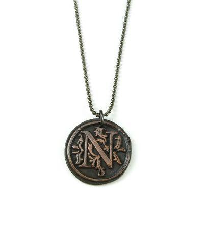 Letter s wax seal copper pendant ttereve letternwaxsealcopperpendantttereve aloadofball Choice Image