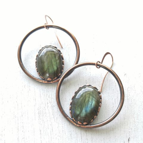 Labradorite,Orb,Earrings,ttereve, labradorite earrings, labradorite jewelry, ttereve adornments, ttereve jewelry, electroformed earrings
