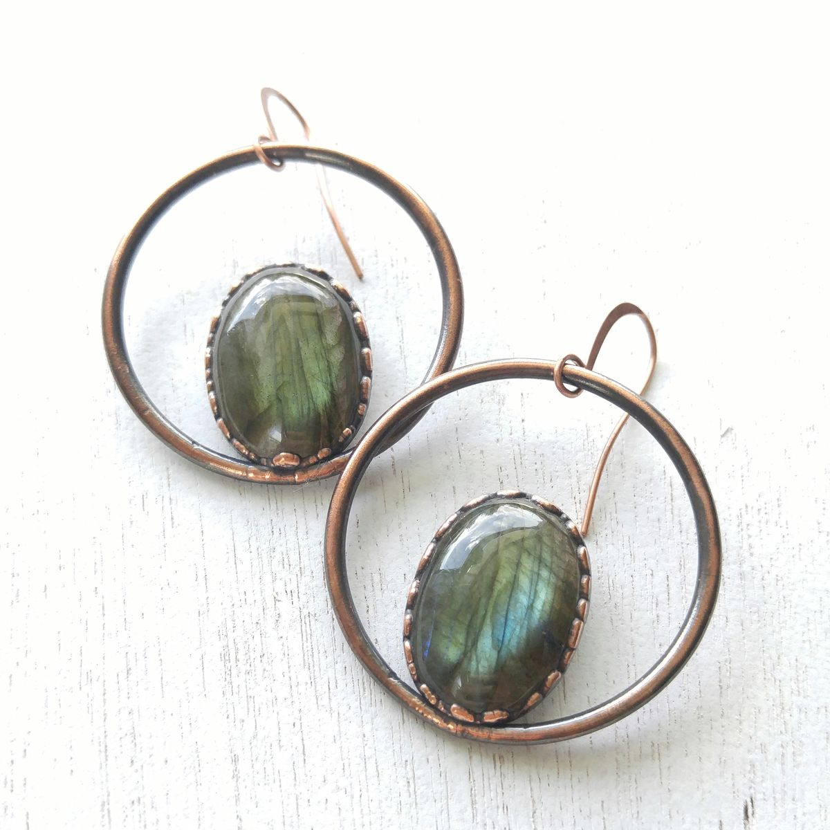 Labradorite Orb Earrings - product image