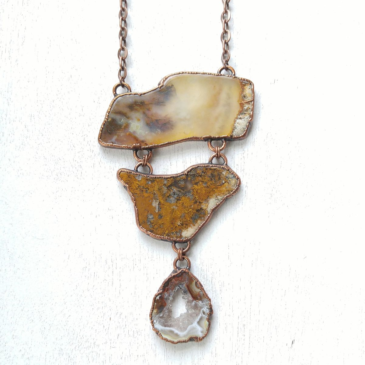 Plume Agate Tria Necklace - product image