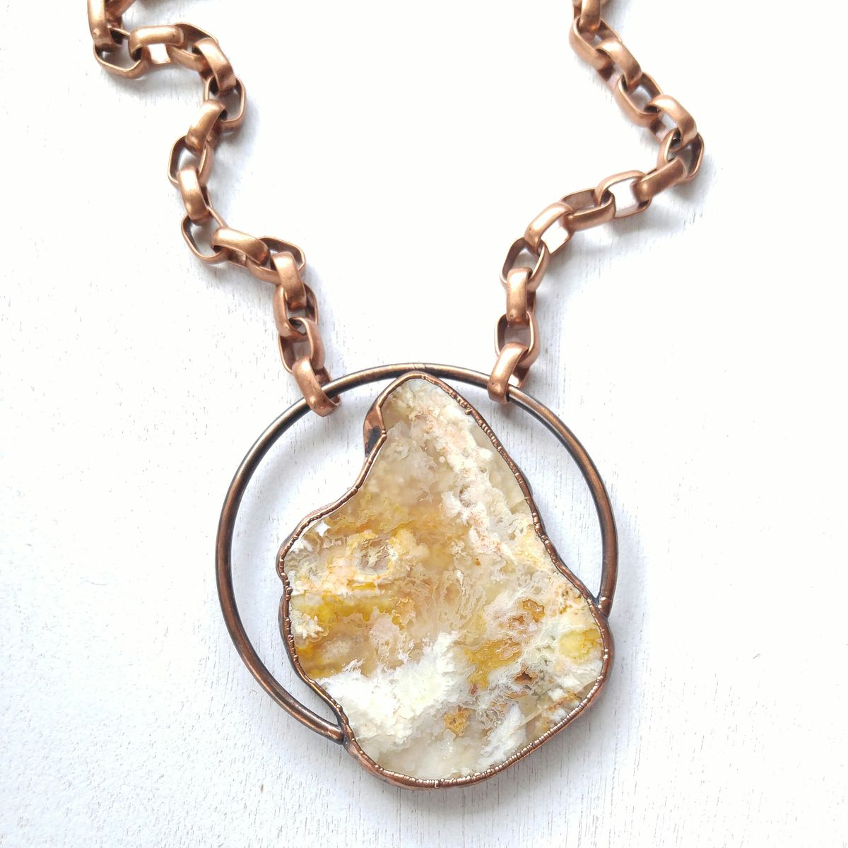 Plume Agate Orb Necklace - product image