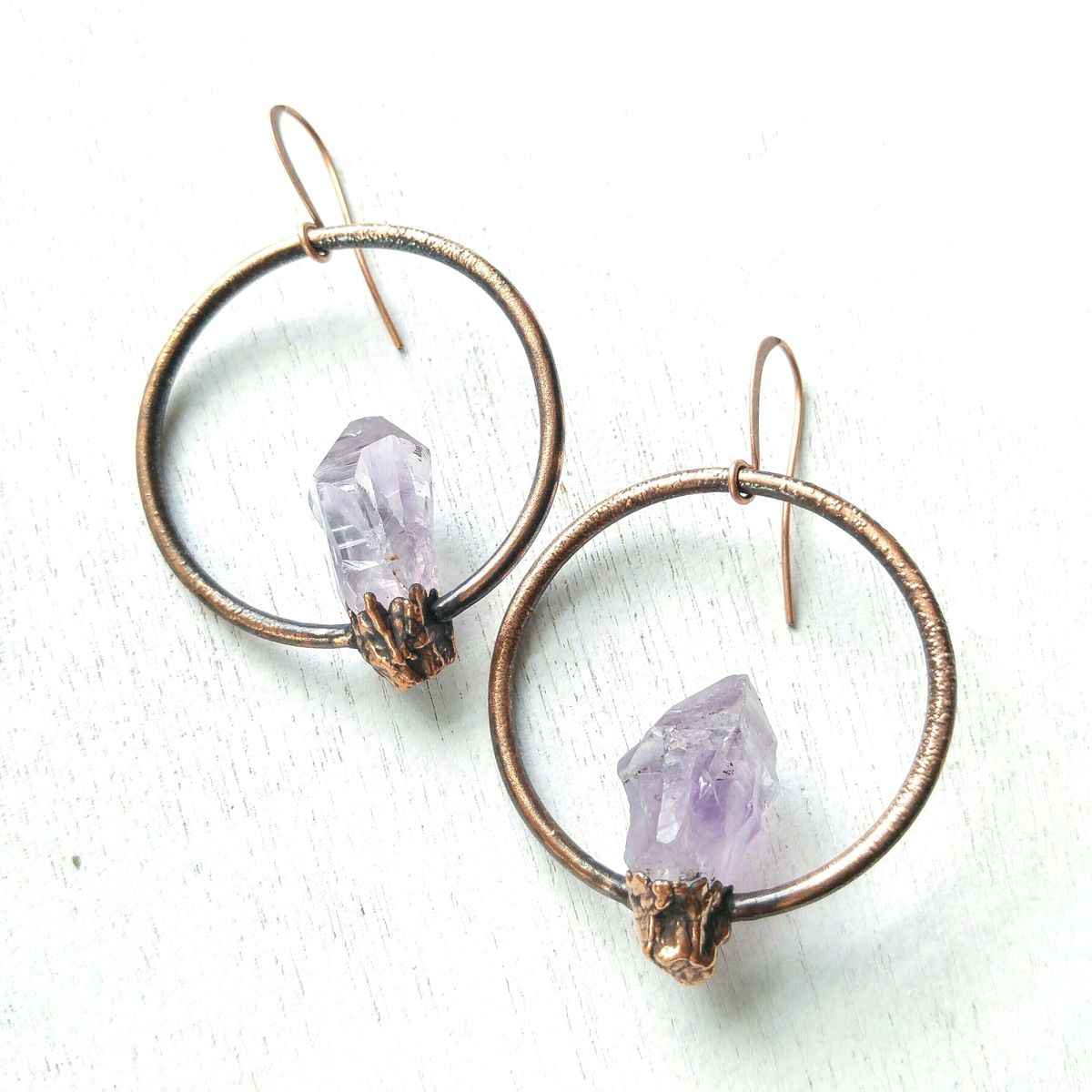 Amethyst Orb Earrings - product image