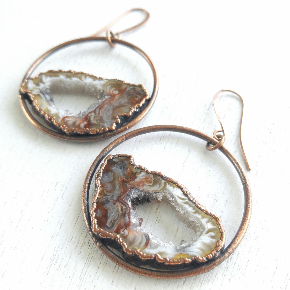 Geode Orb Earrings - product images  of