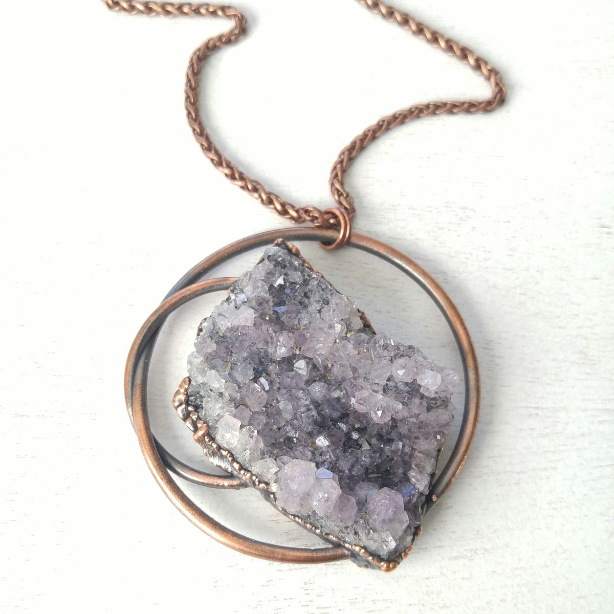 Raw Amethyst Orb Necklace - product images  of