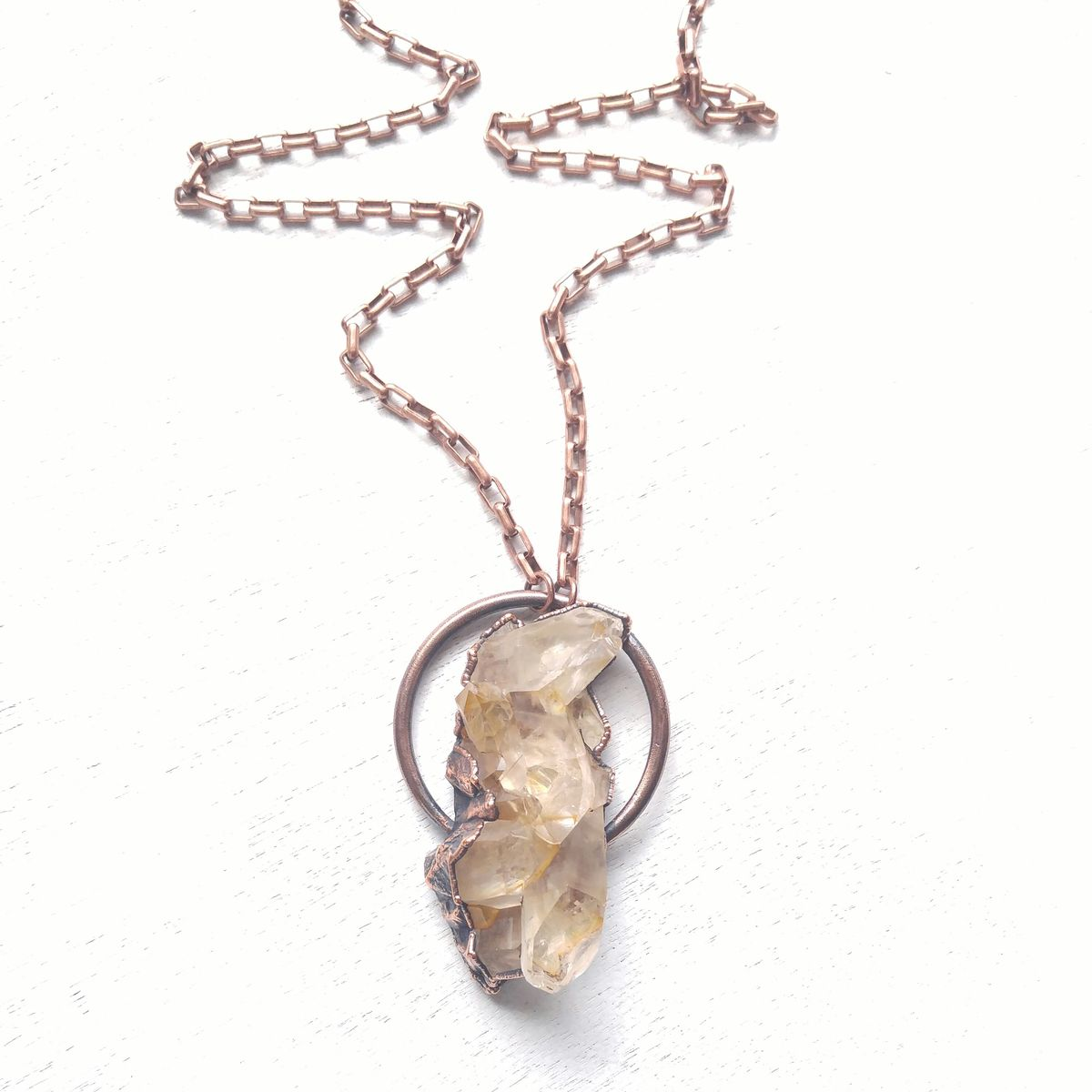 Raw Quartz Halo Necklace - product images  of