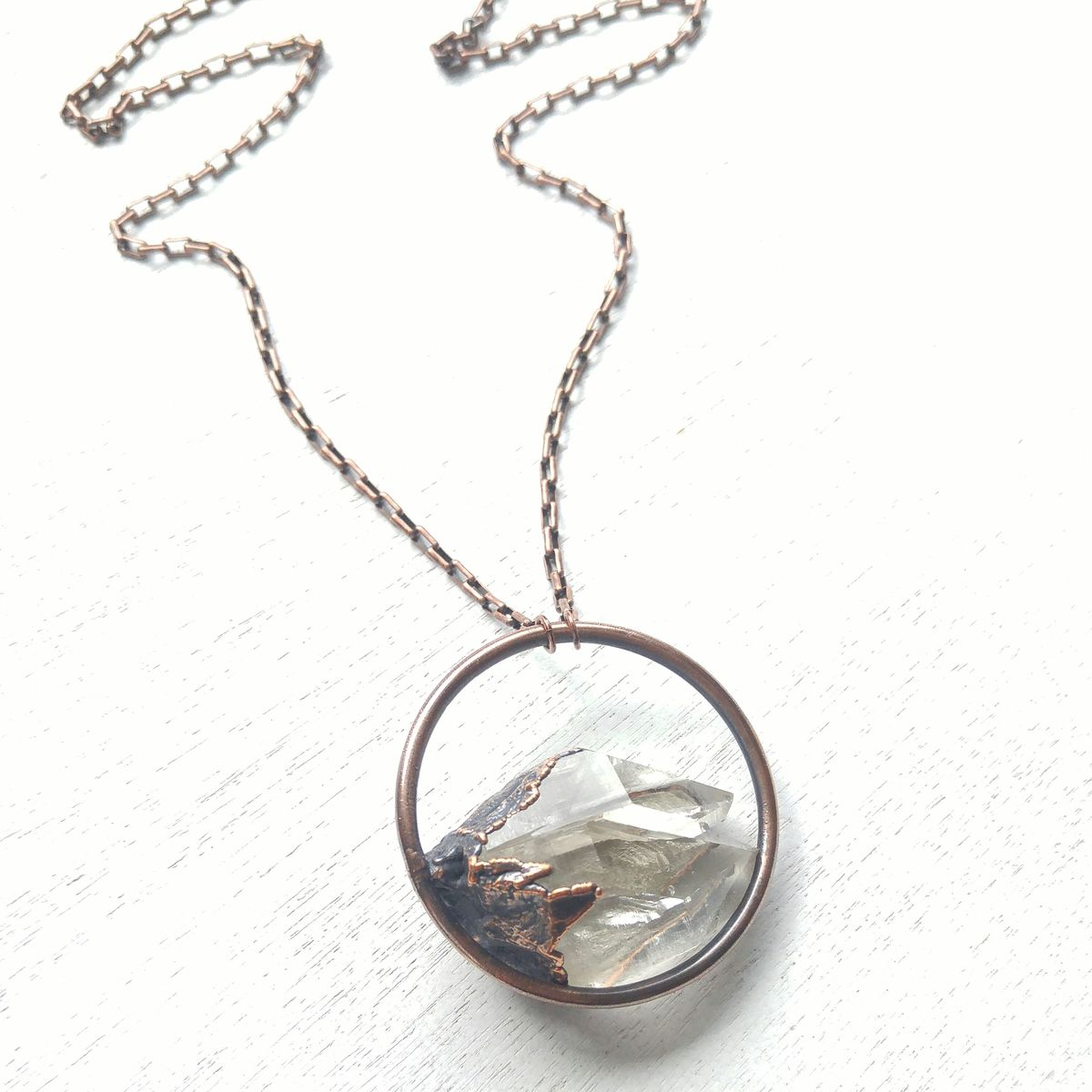 Quartz Twin Orb Necklace - product images  of