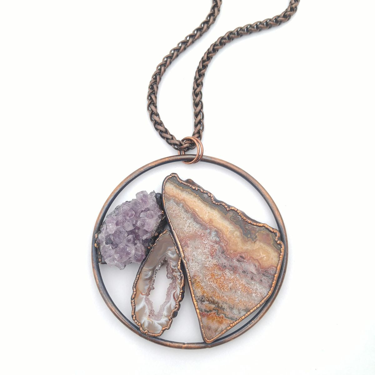 Lace Amethyst Orb Necklace - product image
