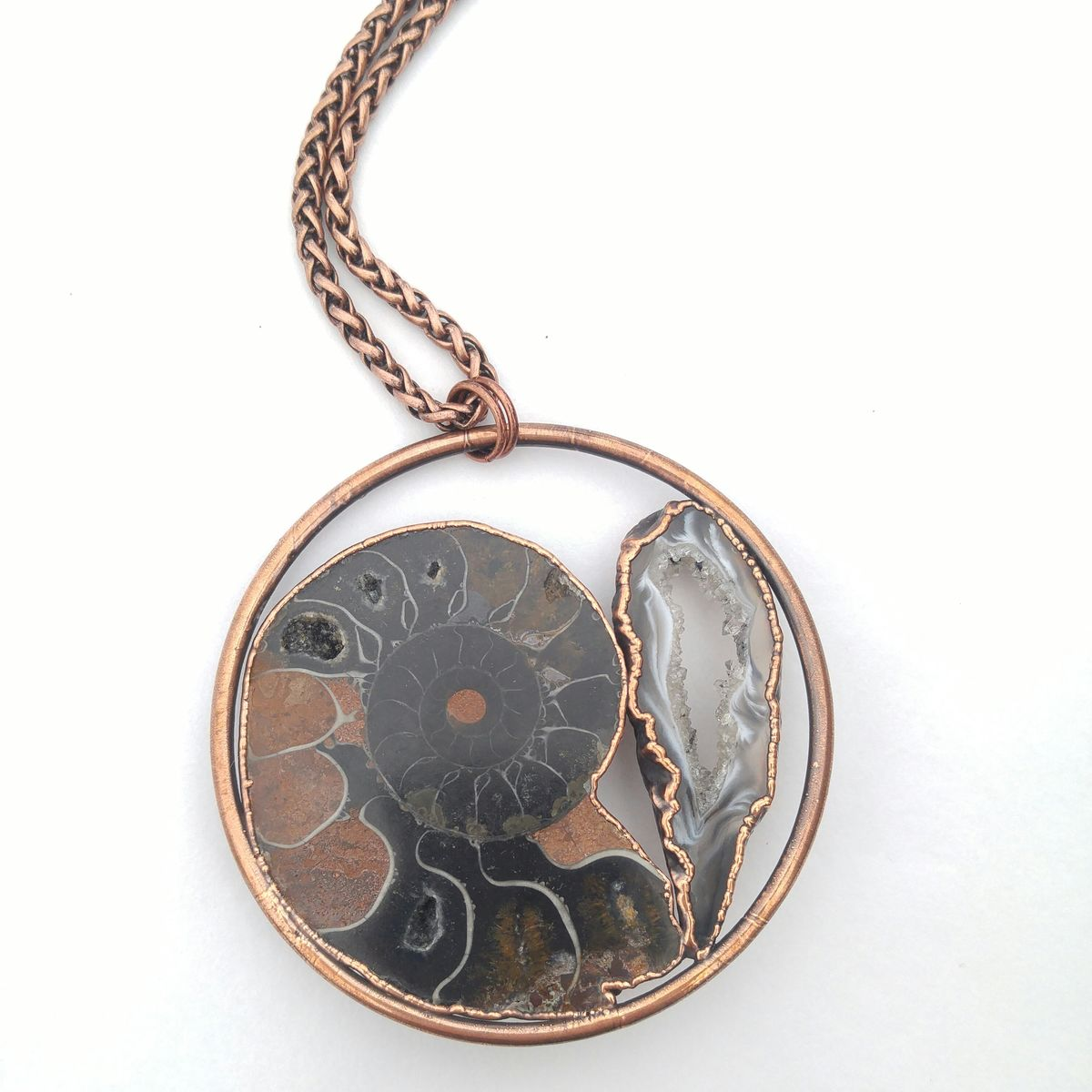 Ammonite Fossil Orb Necklace - product images  of