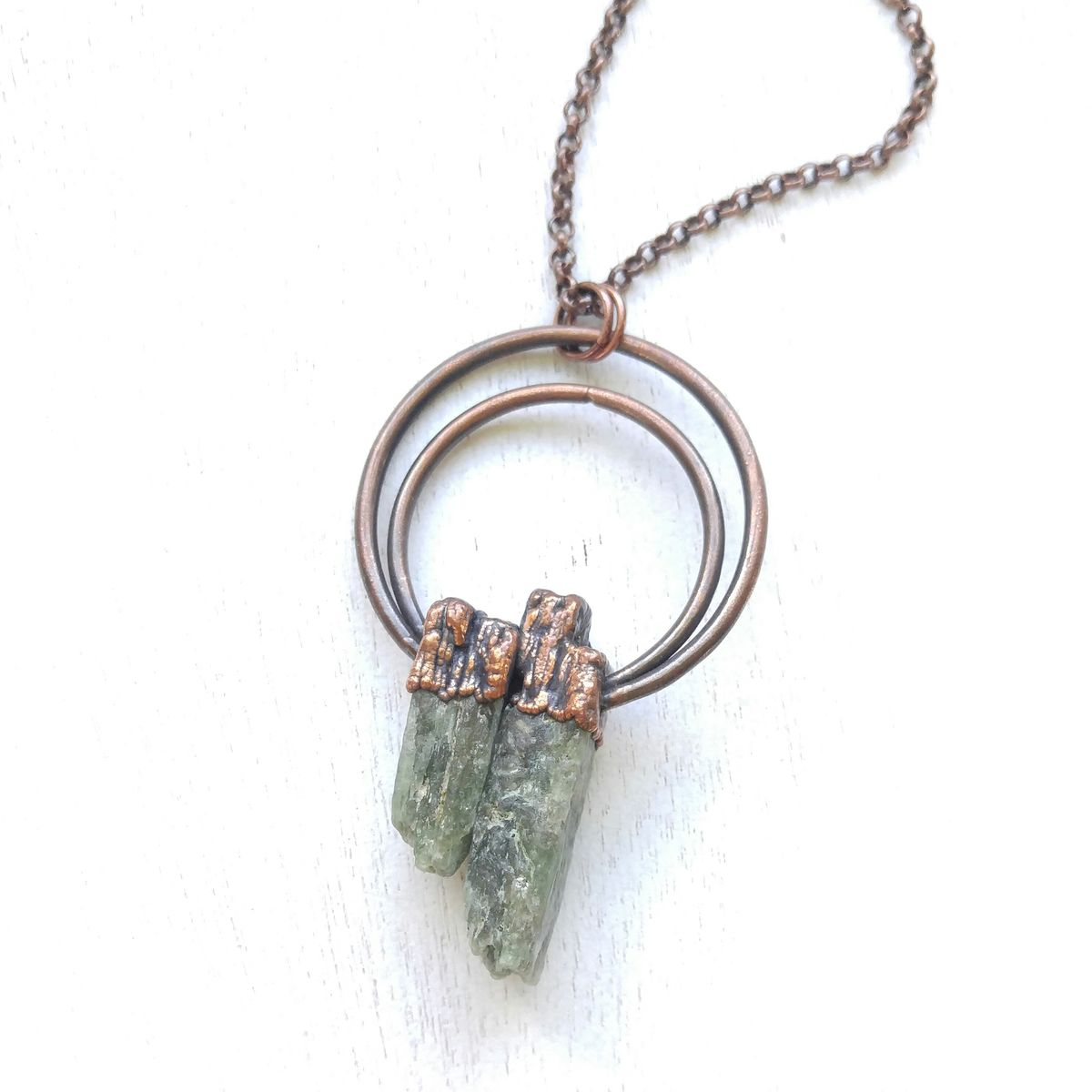 Green Kyanite Halo Necklace - product images  of