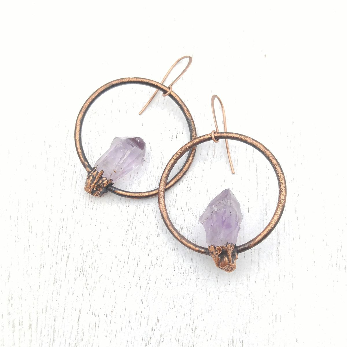 Amethyst Orb Earrings - product images  of