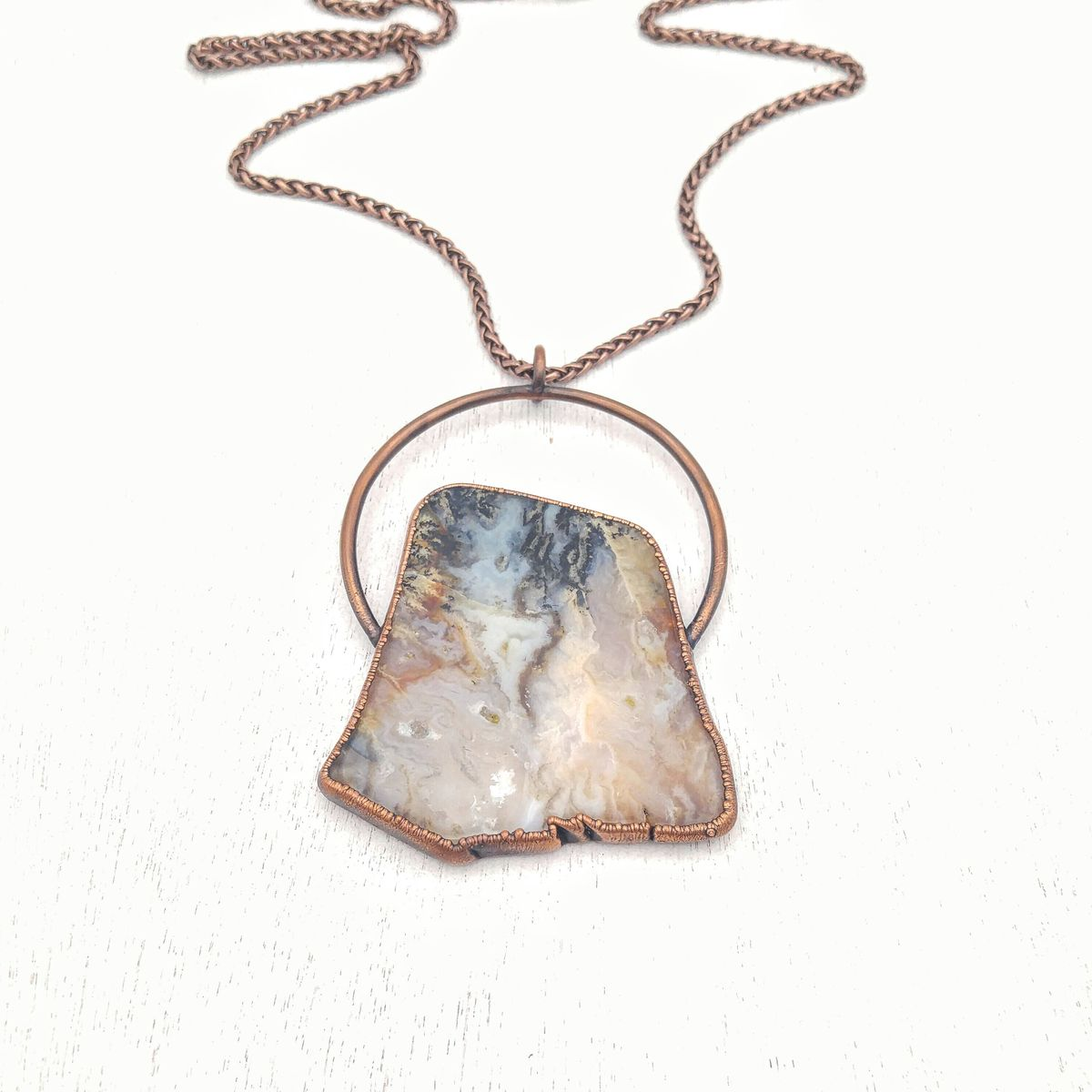 Graveyard Agate Orb Necklace - product images  of