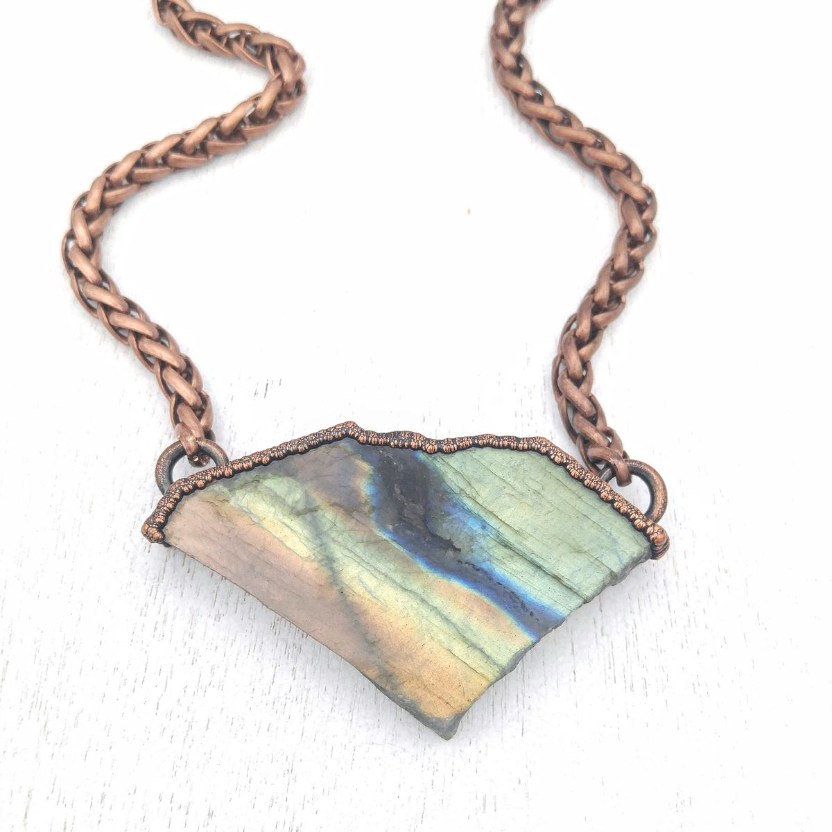 Labradorite Specimen Statement Necklace - product images  of