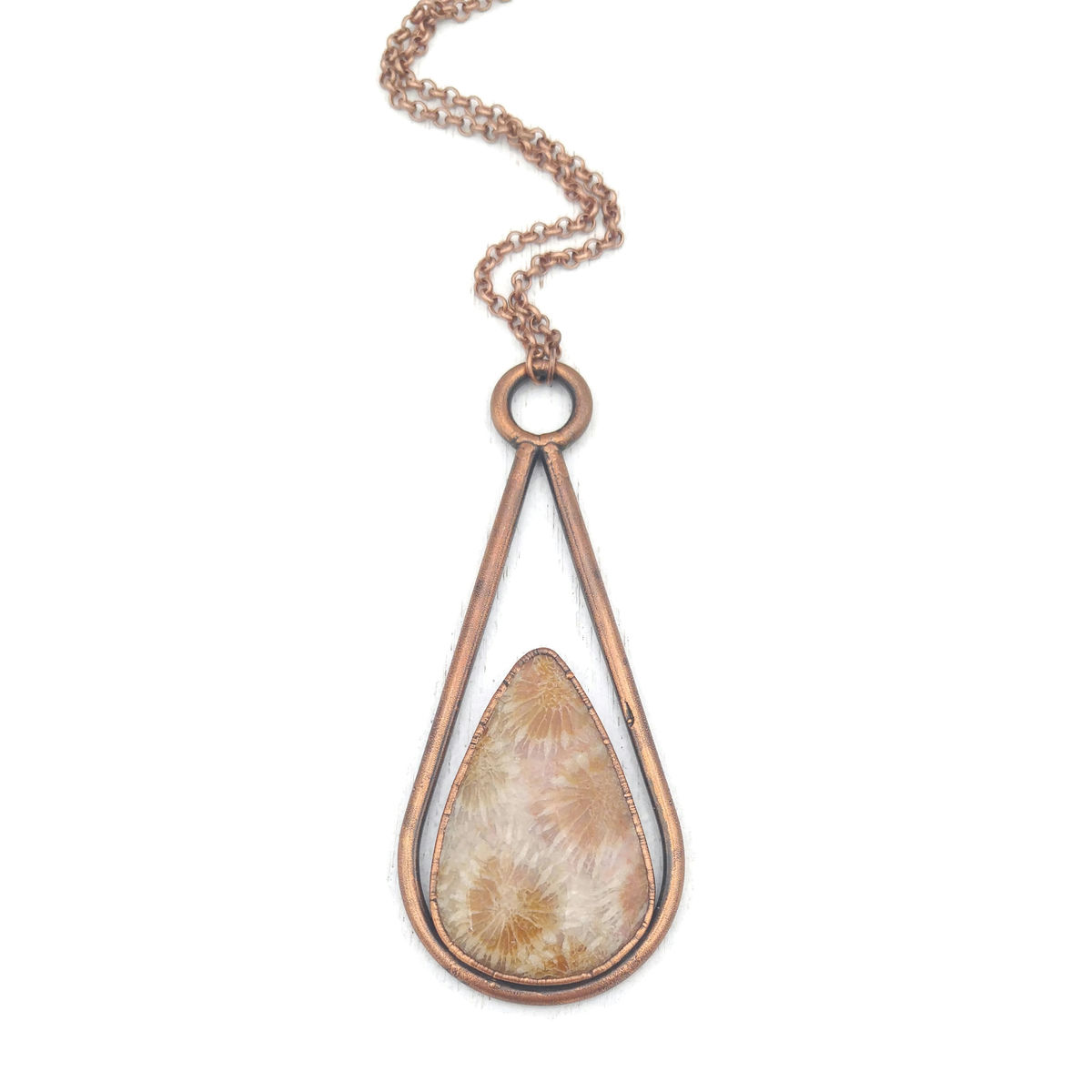 Coral Fossil Drop Necklace - product image