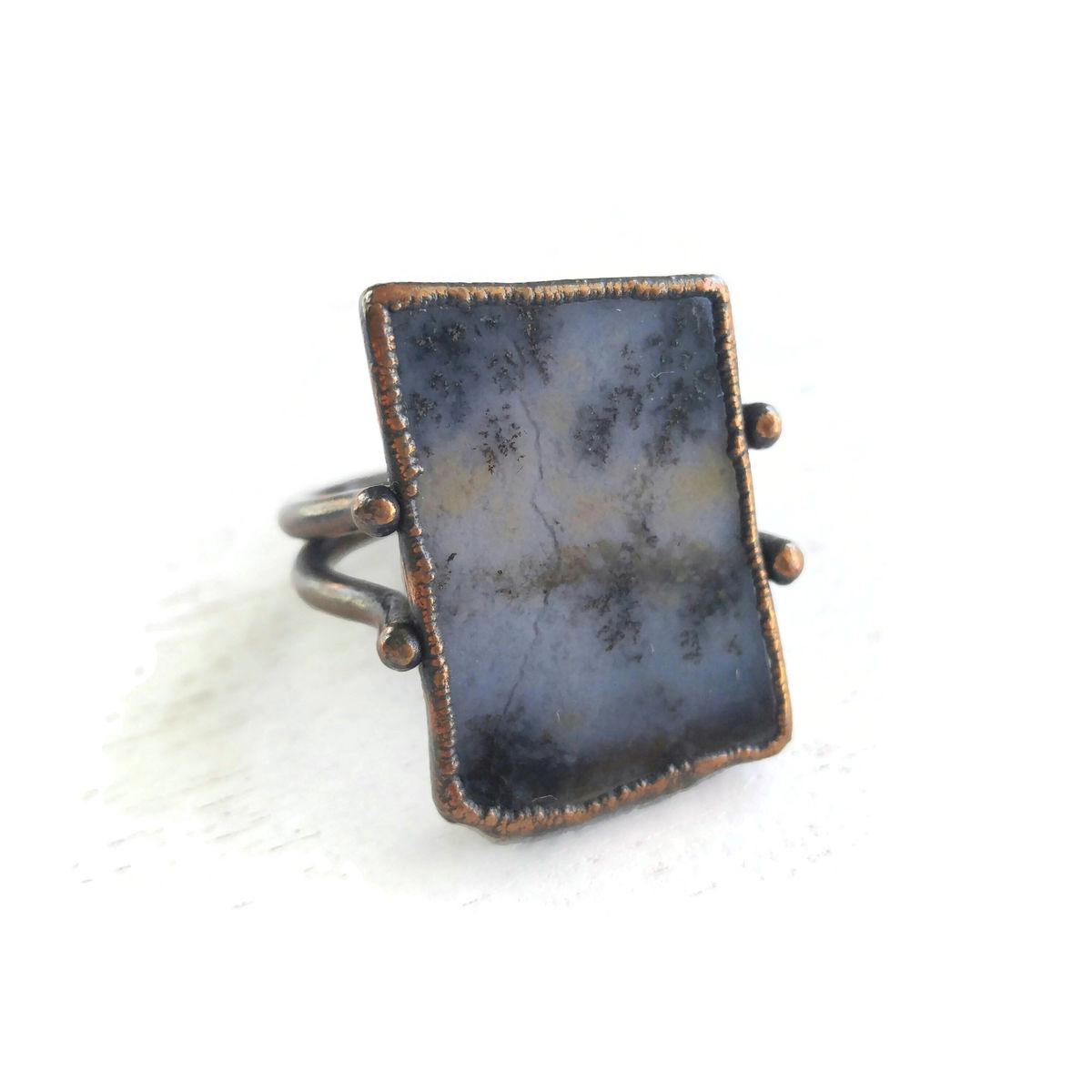 Ame Sage Copper Stirrup Ring - product image