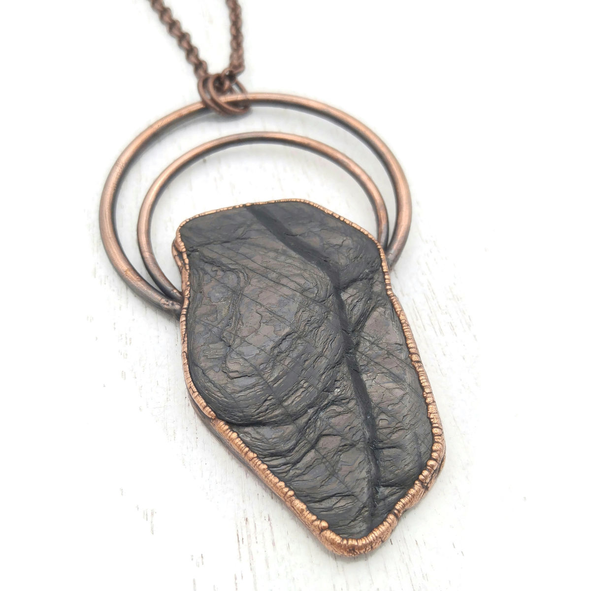 Velvet Labradorite Halo Necklace - product images  of