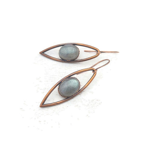 Blue,Labradorite,Iris,Earrings,ttereve, labradorite earrings, labradorite jewelry, ttereve adornments, blue labradorite, electroformed earrings