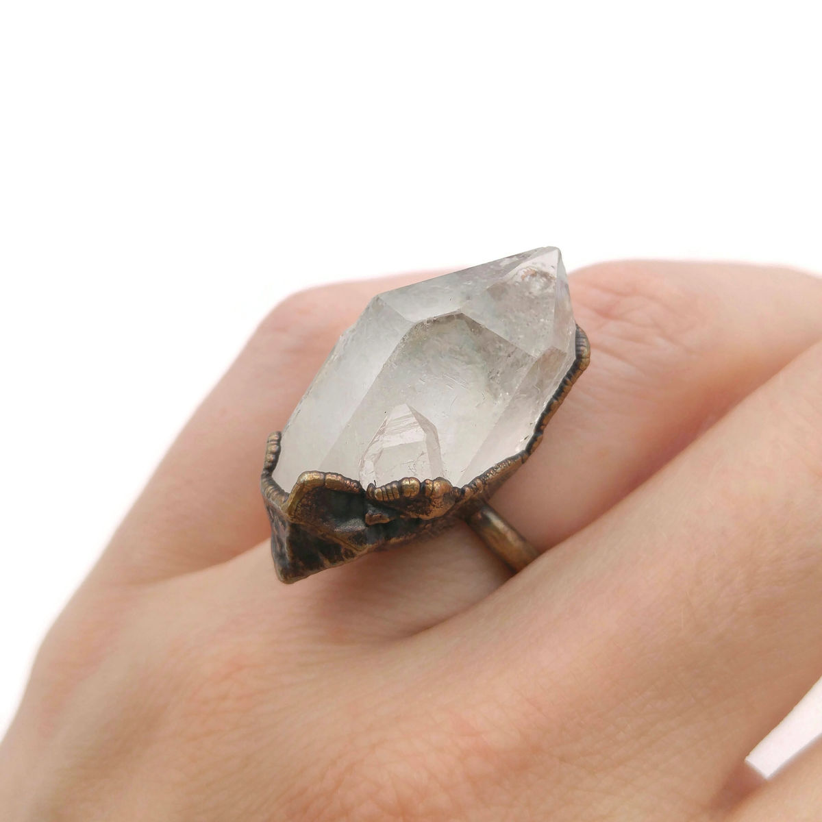 Raw Crystal Quartz Ring - product images  of