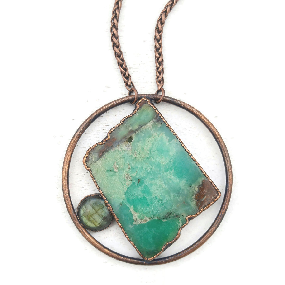 Chrysoprase Orb Necklace - product images  of