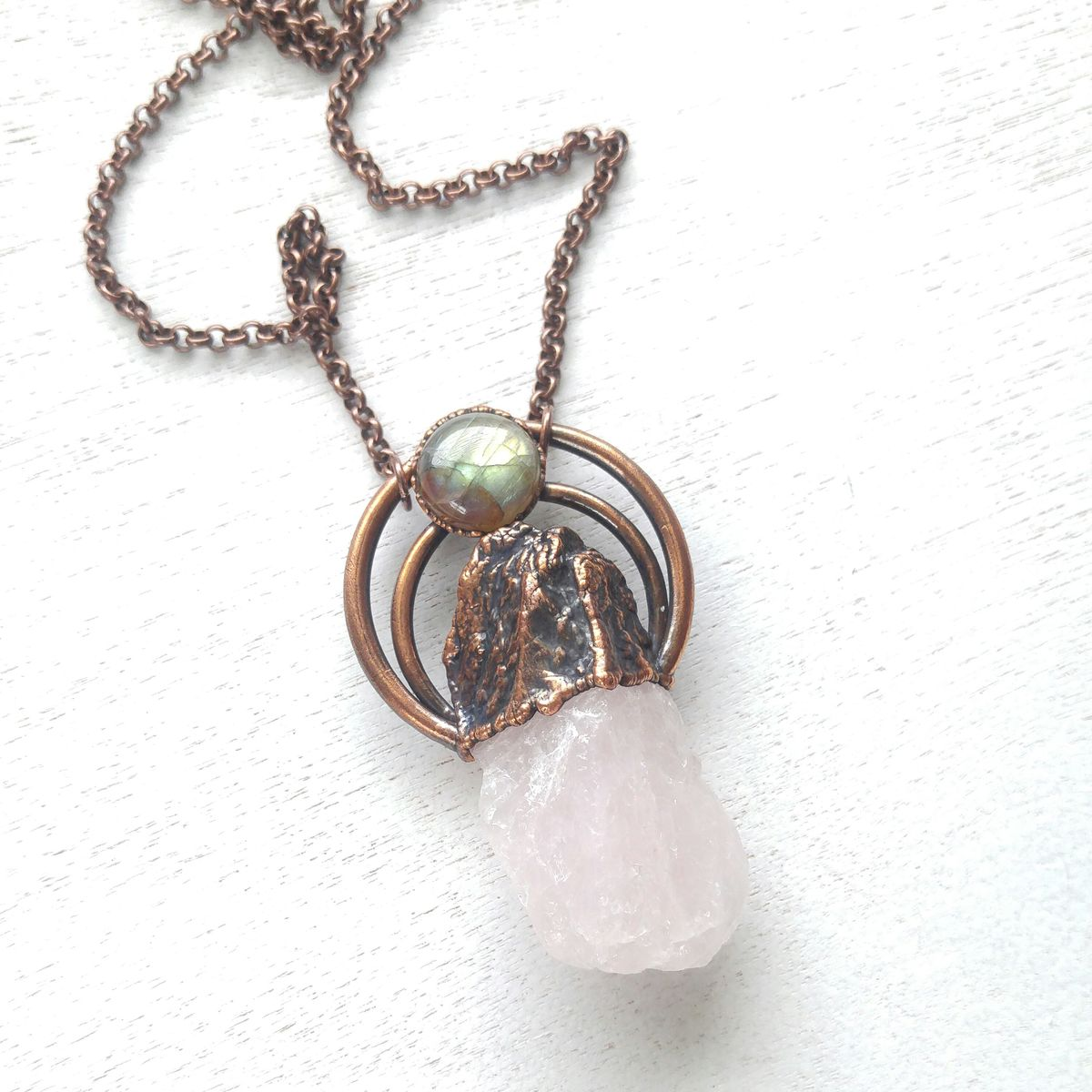 Rose Halo Necklace - product images  of