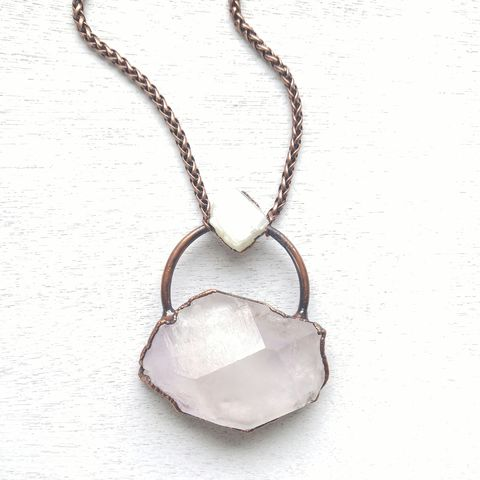 Amethyst,Moon,Necklace,ttereve, amethyst necklace, amethyst jewelry, electroformed necklace, electroformed crystal, moonstone