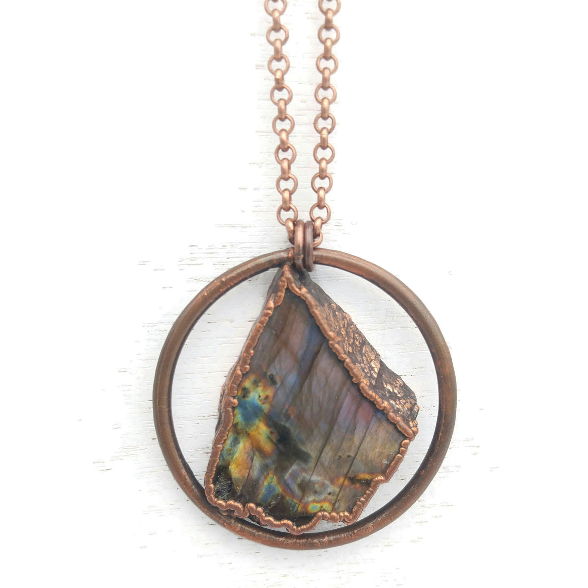 Purple Labradorite Orb Necklace  - product images  of