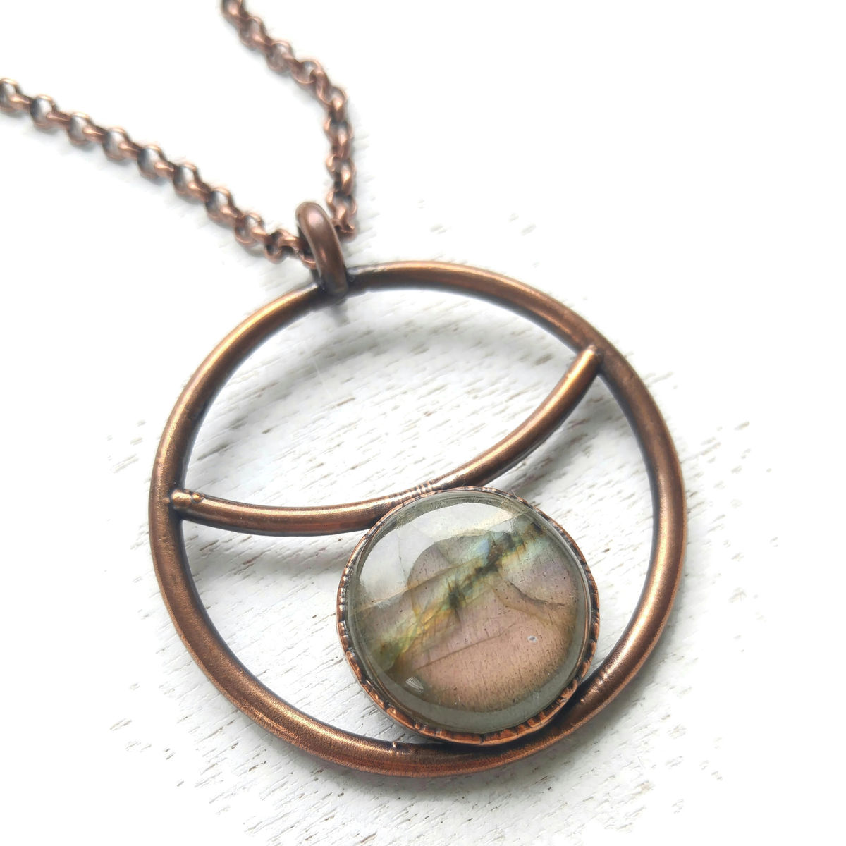 Labradorite Crescent Necklace  - product images  of