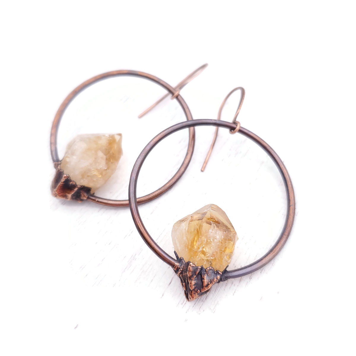 Citrine Orb Earrings - product images  of