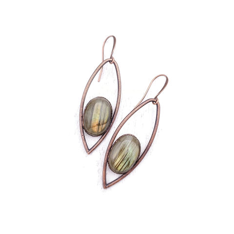 Green,Labradorite,Iris,Earrings,ttereve, labradorite earrings, labradorite jewelry, ttereve adornments, green labradorite, electroformed earrings