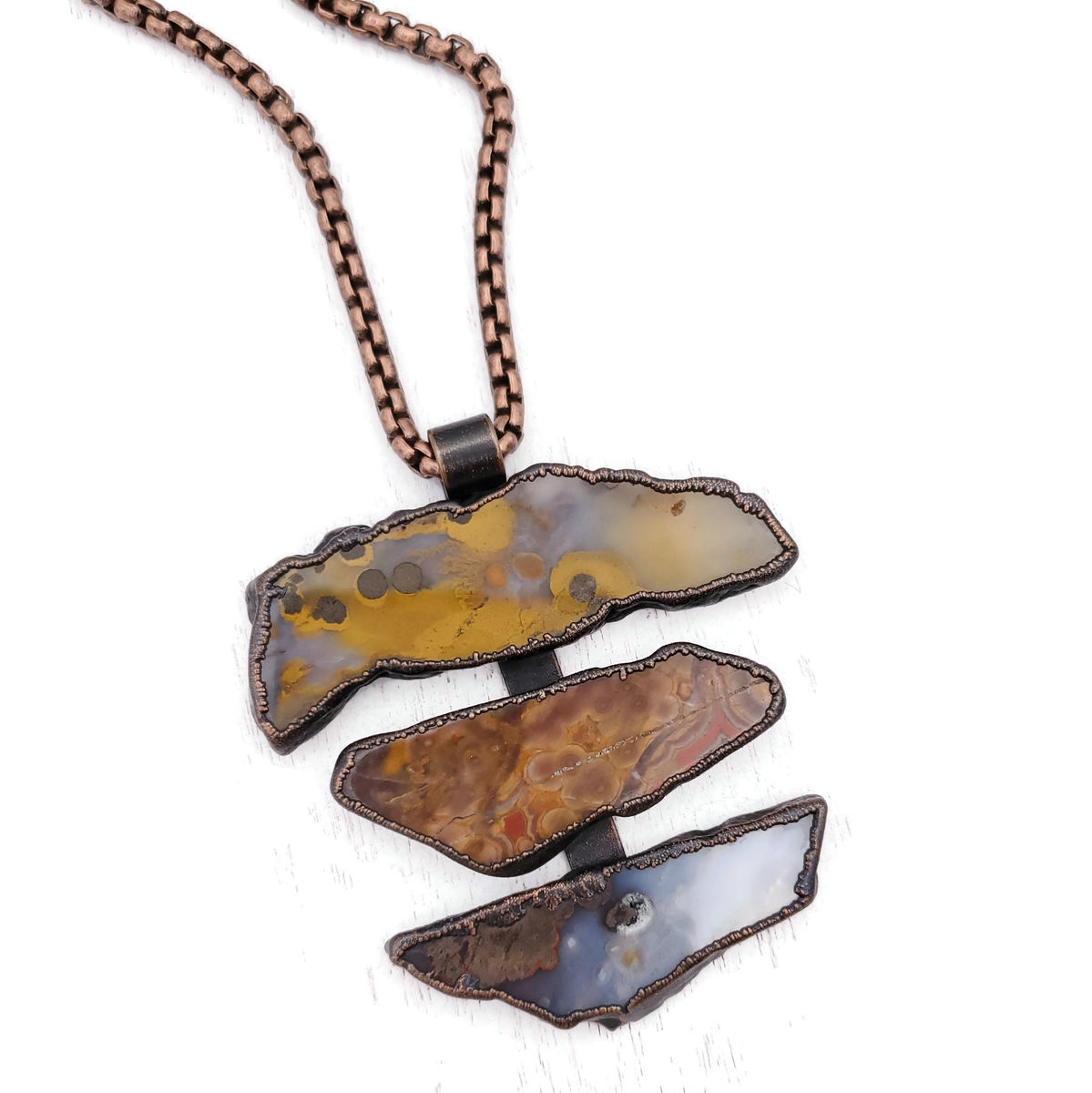 Polka Agate Totem Necklace - product images  of