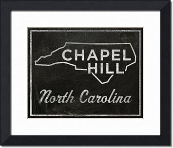 Chapel Hill North Carolina City State Art Print - 11 in x 14 in Chapel Hill Print - Chalkboard Art - Custom State Print, North Carolina State Art - product images  of