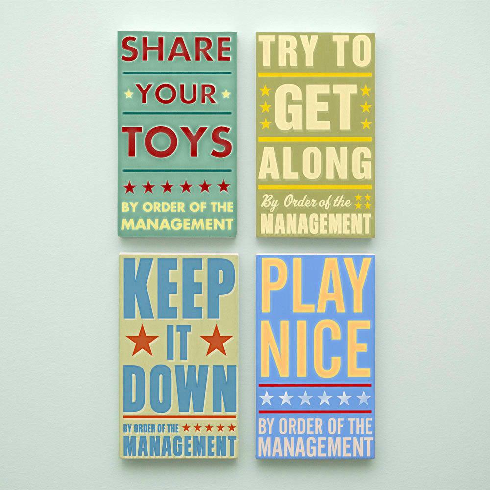 Kids Room Art for Playroom Decor Set By Order of the Management Art ...