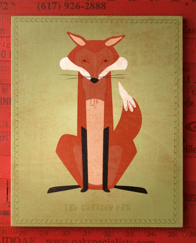 Wall Art Nursery Art Boy- Woodland Critter Art Block- Pick the Print- Cute Animal Nursery Art for Kids Room- Ready to Hang Art for Kids Room - product images  of