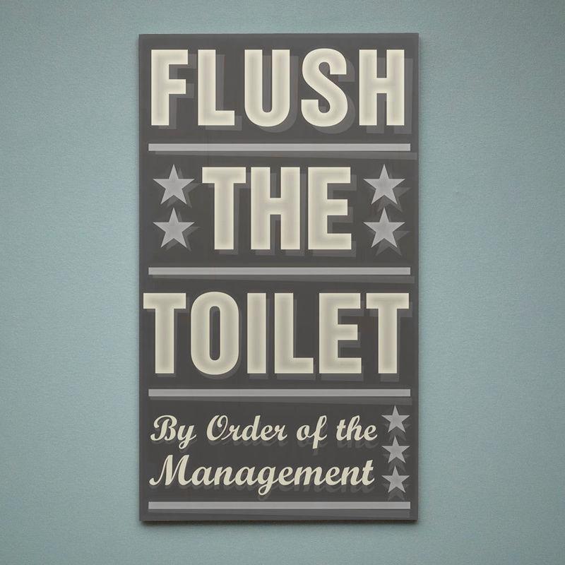Stupendous Neutral Bathroom Art Flush The Toilet By Order Of The Management Word Art Block 12 1 X 21 Gray And Yellow Decor Bathroom Wall Art Interior Design Ideas Jittwwsoteloinfo