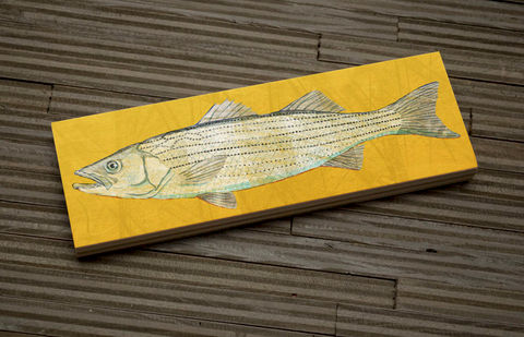 Freshwater Fish Art Medium Art Block- Largemouth Bass Art Print- 9 ...