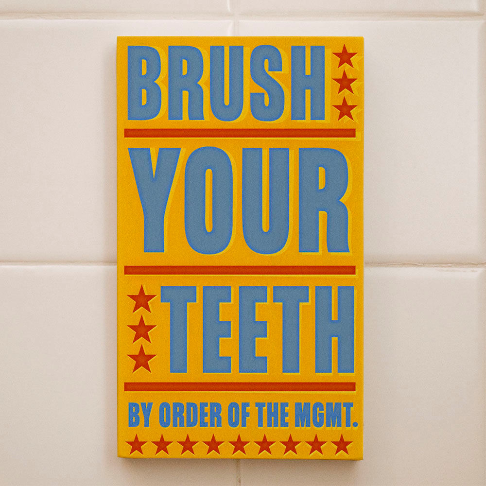 Word Art Block- Brush Your Teeth By Order of the Management Kids ...
